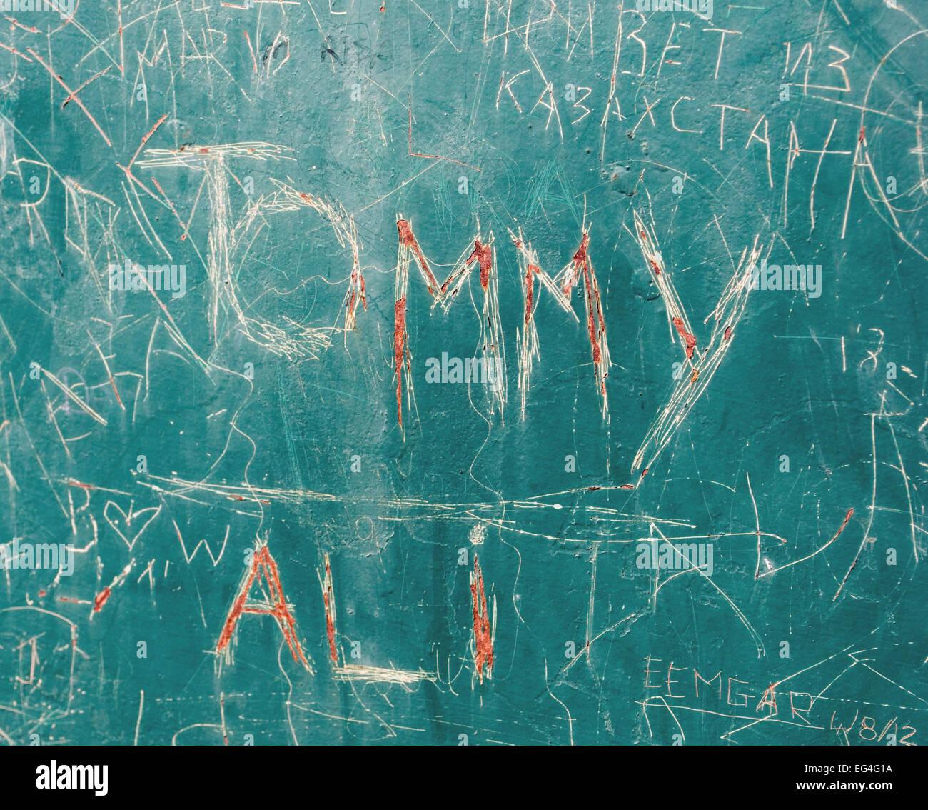 identity name graffiti - Stock Image