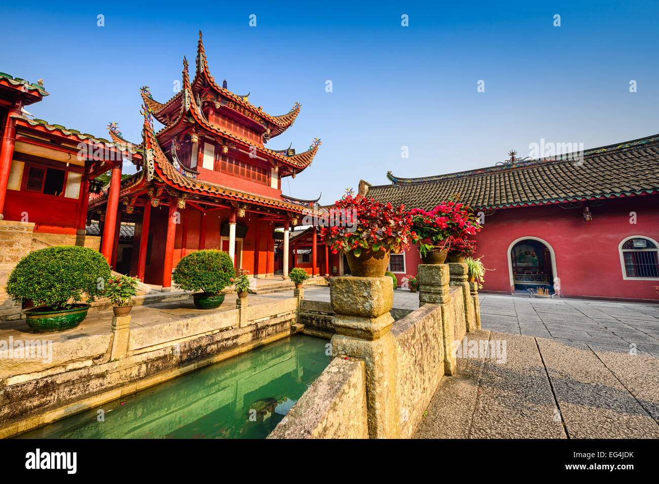 Fuzhou, China at Yongquan Temple on Drum Mountain. - Stock Image