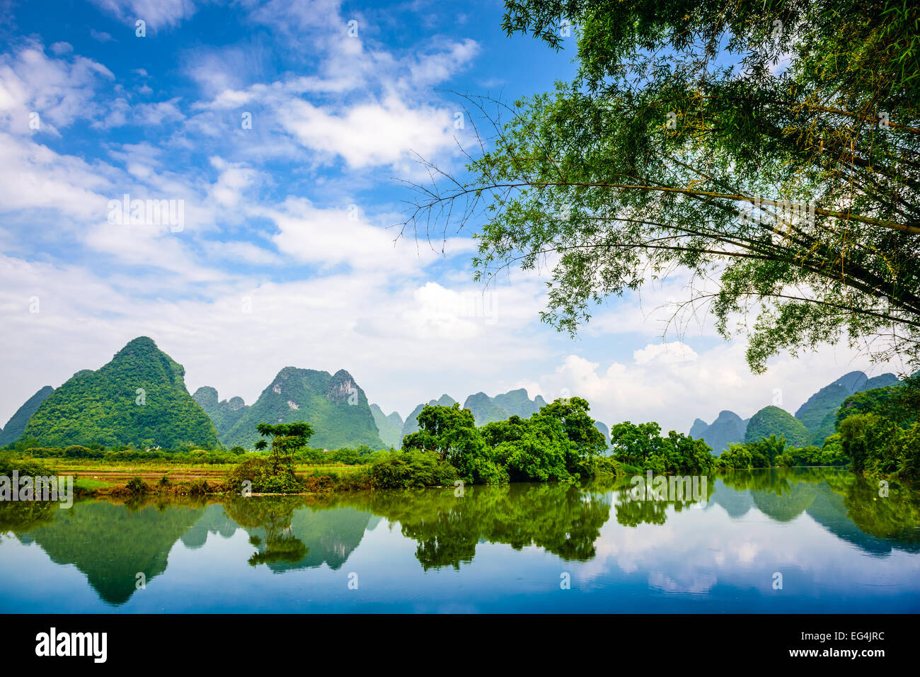Karst Mountain landscape in Guilin, China. - Stock Image