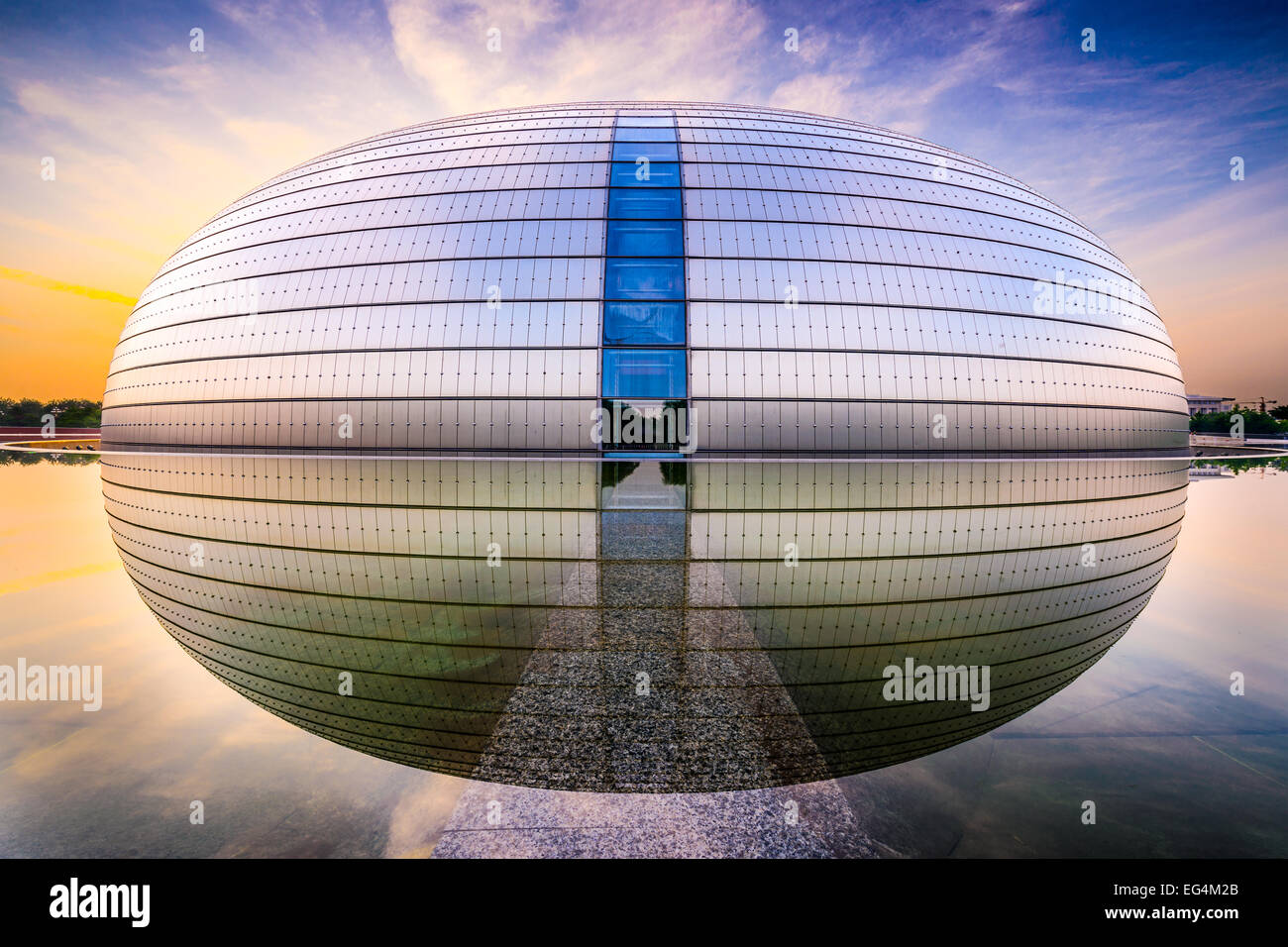 National Centre for the Performing Arts. The futuristic design stirred controversy when the theater was completed - Stock Image