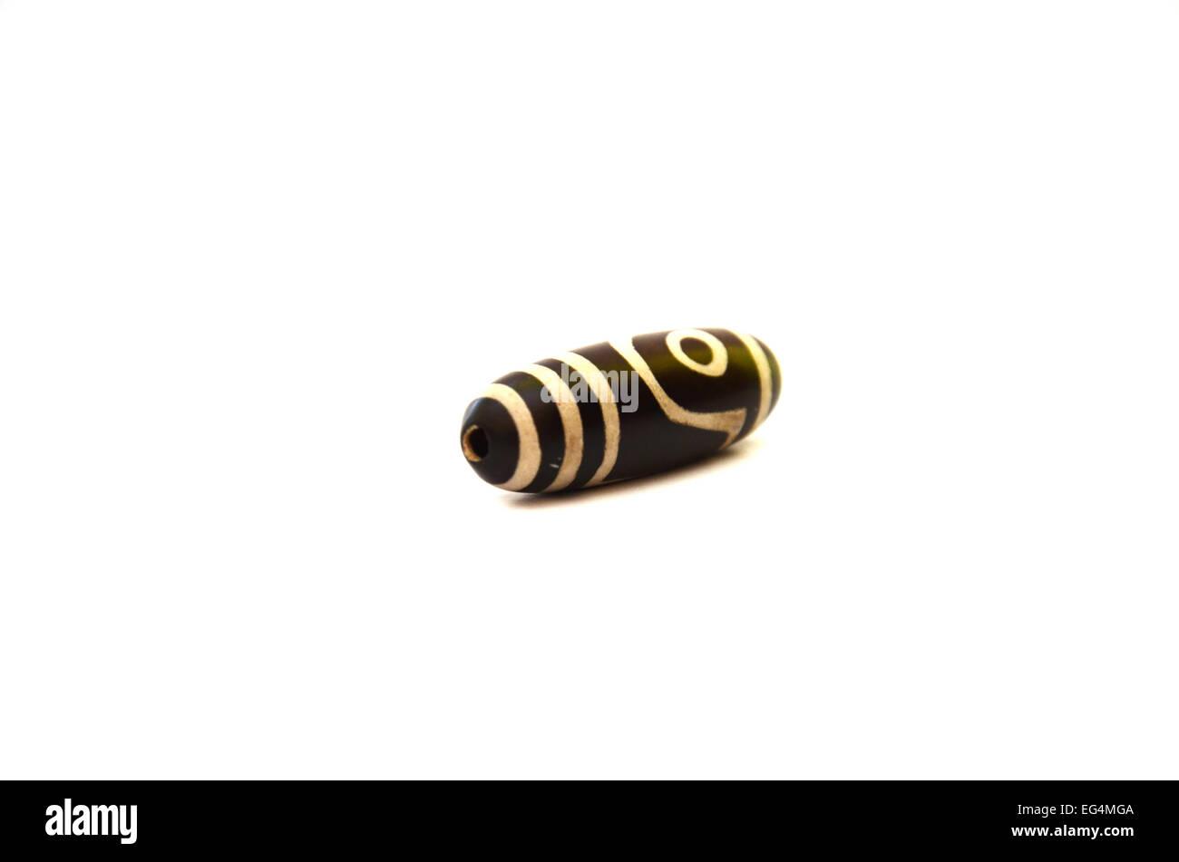 Necklace and pendant Amulet dZi Bead Tibet Style - Stock Image