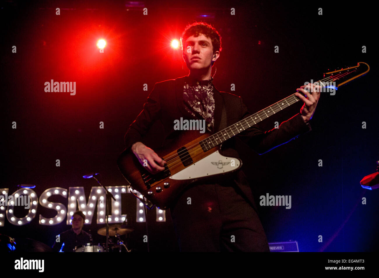 Austin, TX, USA. February 15, 2015. Noah Sierota of American indie pop band Echosmith. The band consists of four Stock Photo