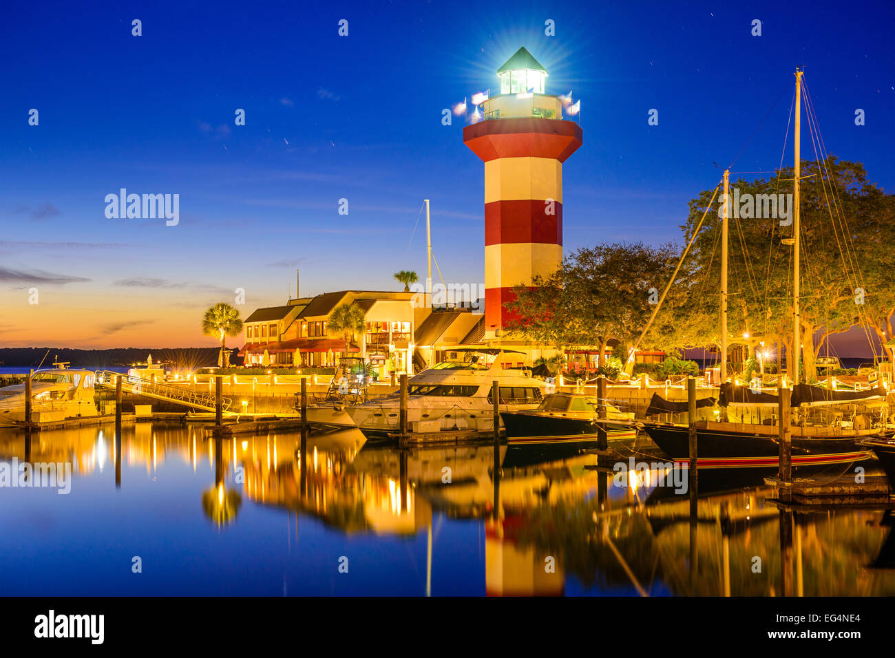 Hilton Head, South Carolina, USA lighthouse. Stock Photo