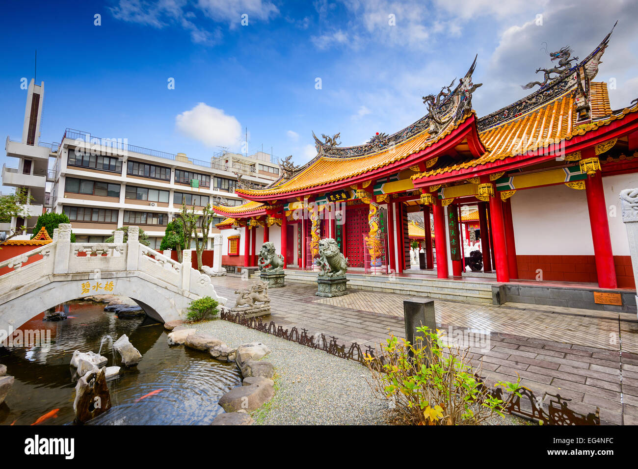 Confucius Shrine in Nagasaki, Japan - Stock Image