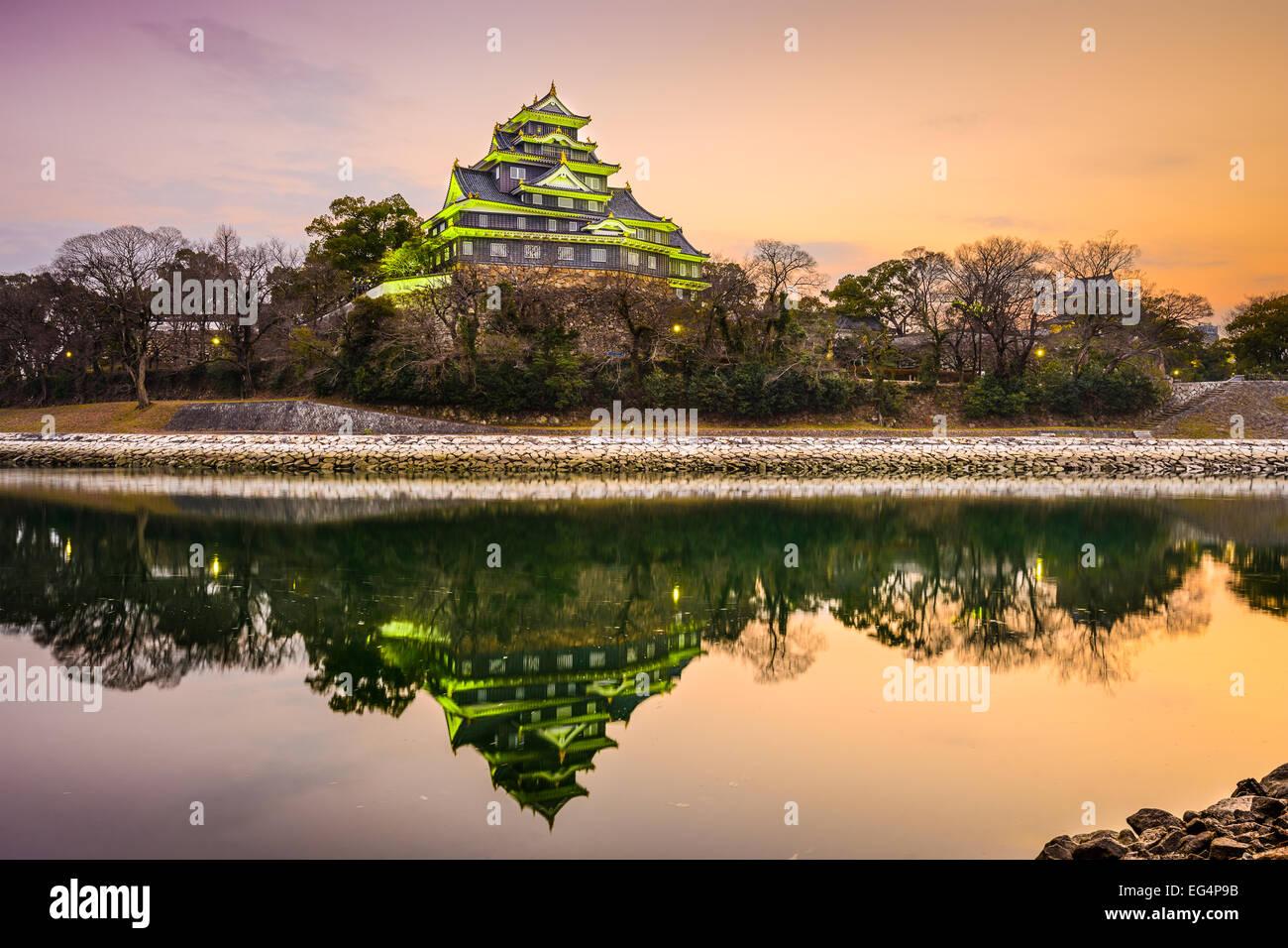 Okayama, Japan at Okayama Castle on the Asahi River. - Stock Image