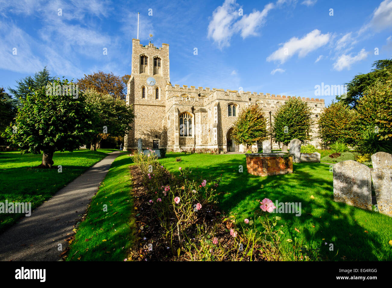 The 15th Century Parish Church of St Peter ad Vincula, Coggeshall, Essex, East Anglia - Stock Image