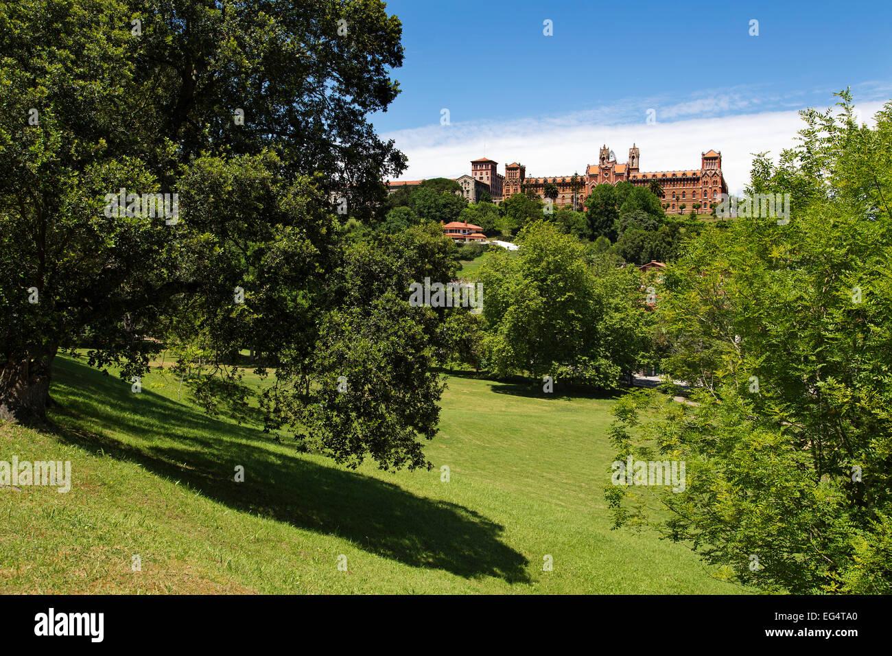 Universidad Pontificia Comillas Village Cantabria Spain - Stock Image