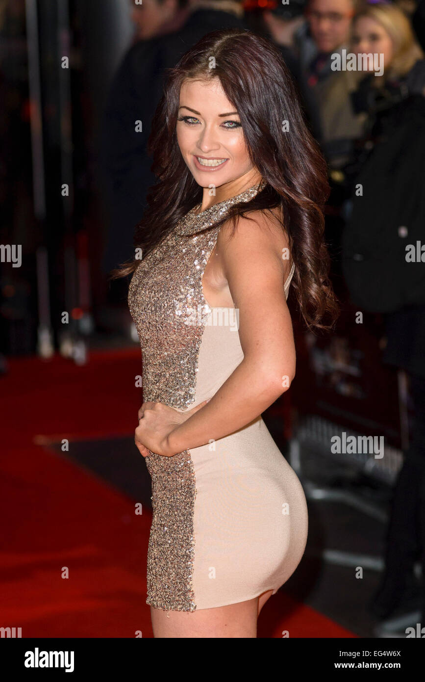 London, UK. 16th Feb, 2015. Jess Impiazzi attends the World Premiere of THE GUNMAN on 16/02/2015 at BFI South Bank, - Stock Image