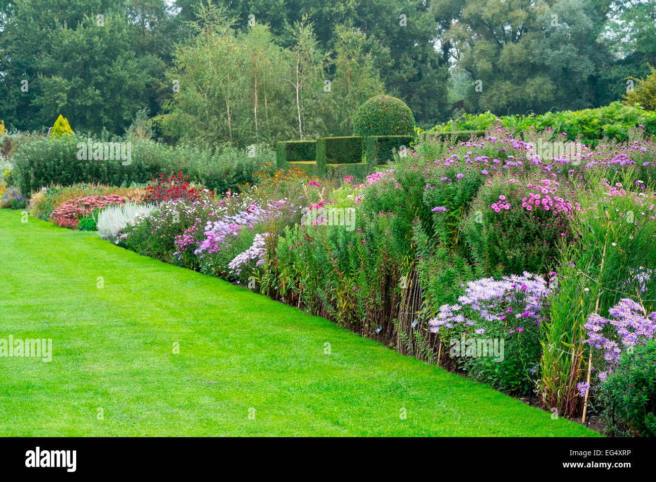 Herbaecous Border at Waterperry Gardens - Stock Image