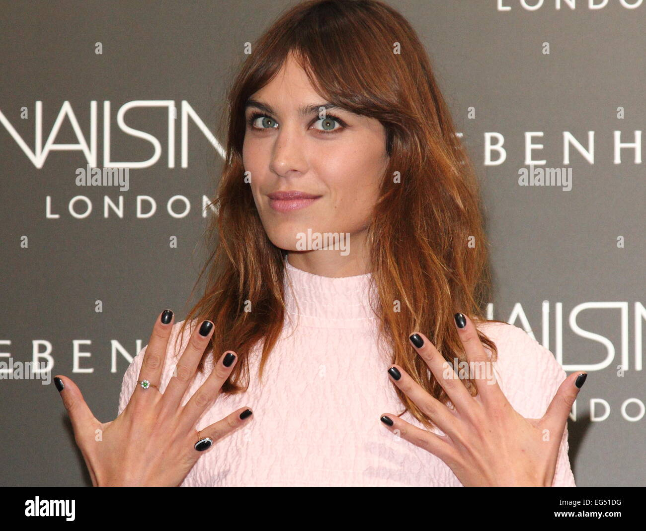 Alexa Chung Manicure Launch At Nails Inc Debenhams Oxford Street London Featuring Where United Kingdom When 14 Aug 2014