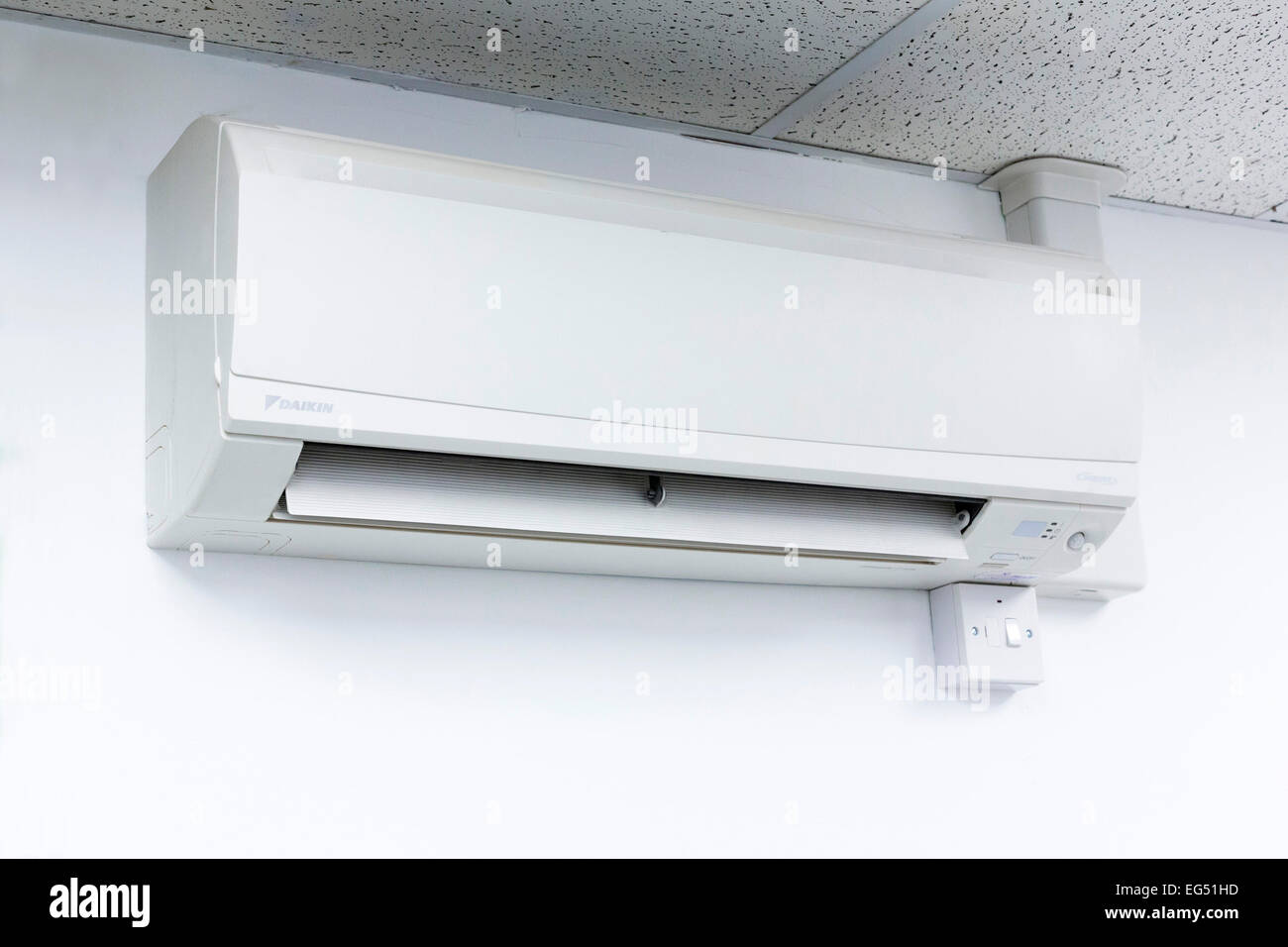 Wall Mounted Air Conditioning Unit High Resolution Stock Photography And Images Alamy