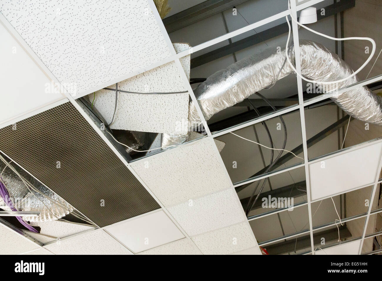 suspended floating ceiling - Stock Image