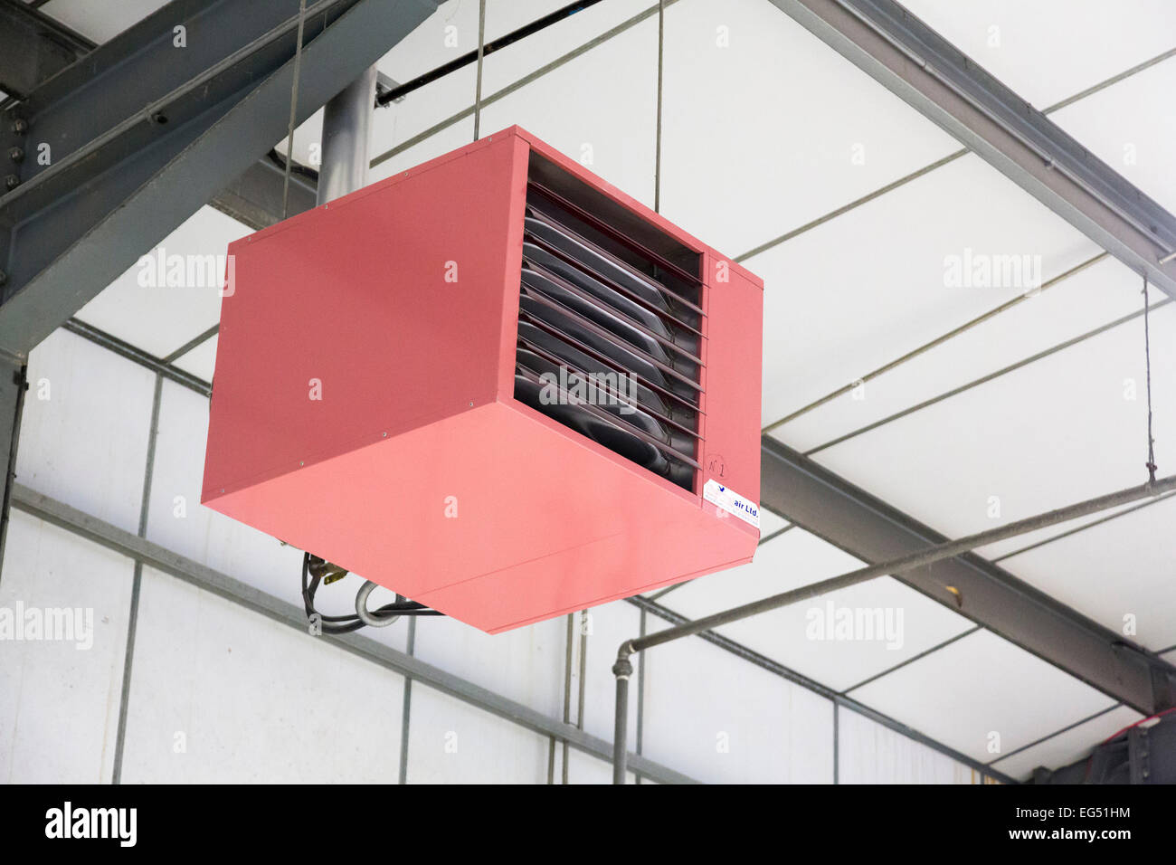 gas fired industrial heater - Stock Image