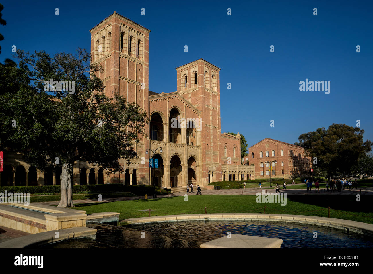 Royce Hall on the UCLA Campus in Los Angeles California - Stock Image