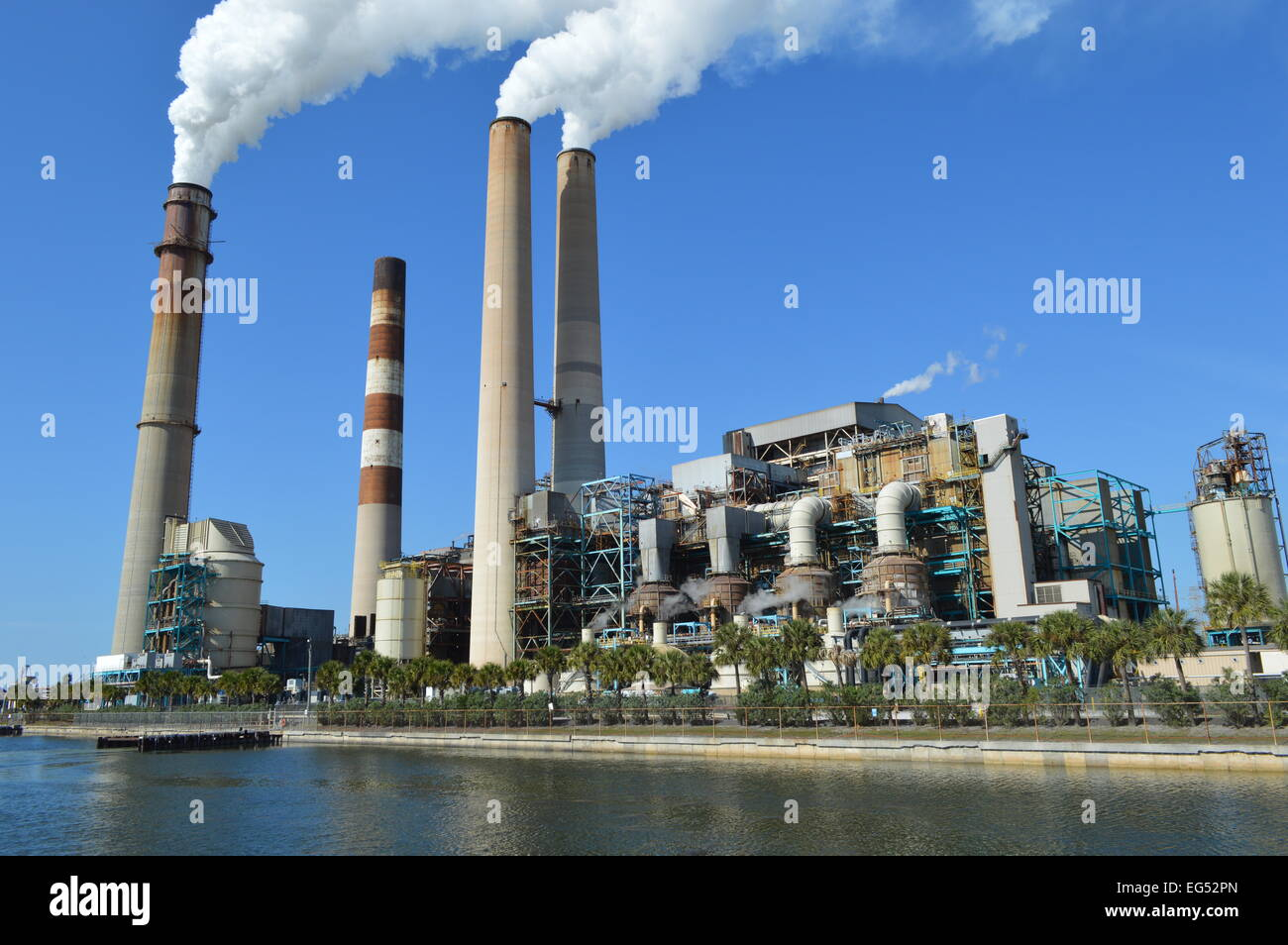 Tampa Electric Power Plant - Stock Image