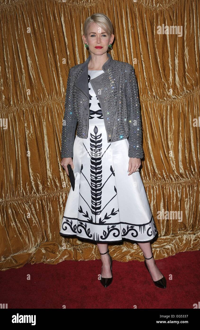 New York, NY, USA. 16th Feb, 2015. Gren Wells at arrivals for Alice and Olivia Fall/Winter 2015 Fashion Collection - Stock Image