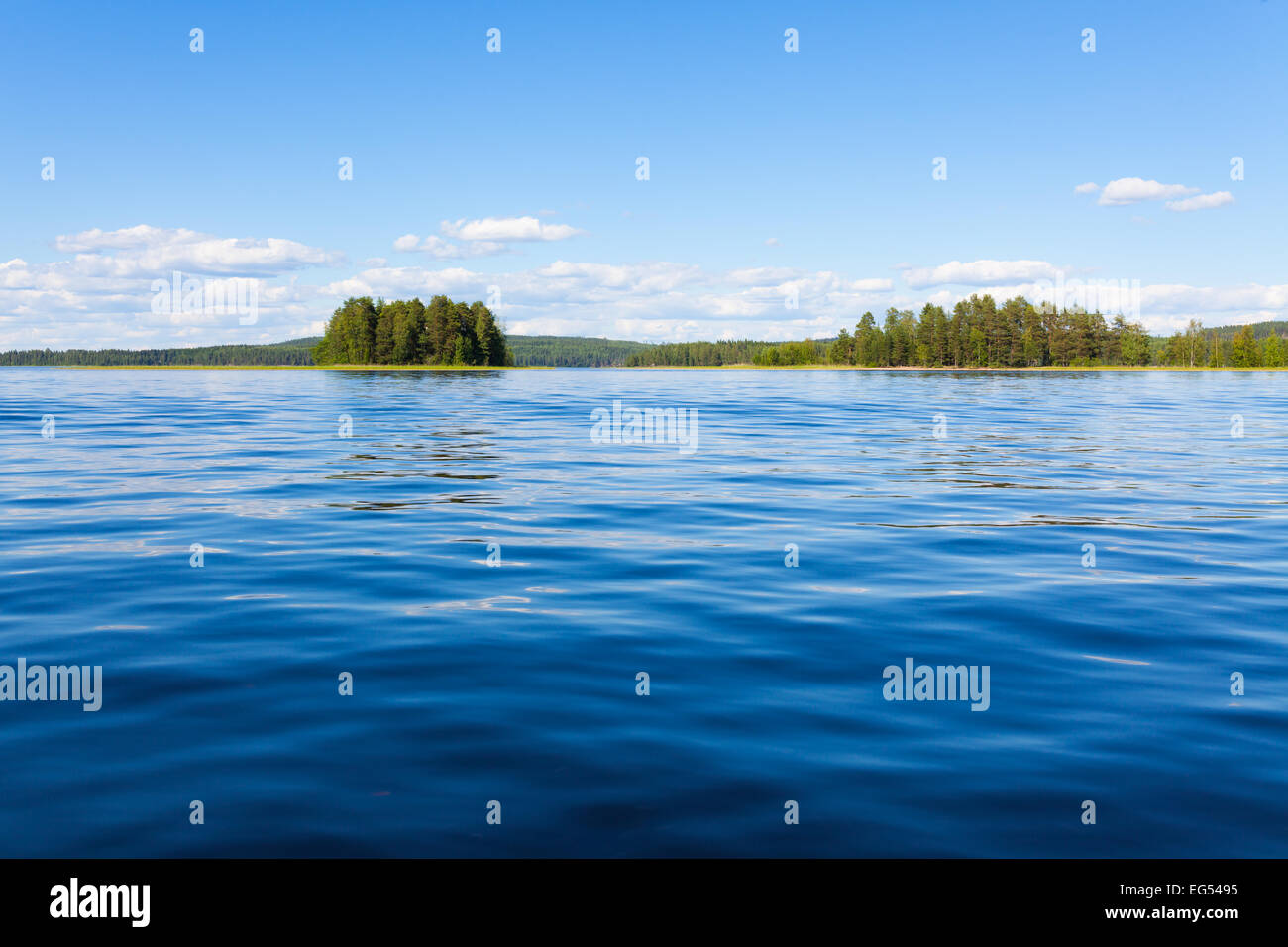 Finland lake scape at summer - Stock Image