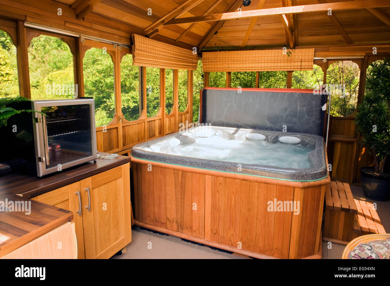 hot tub / jacuzzi inside a cedar gazebo release available for ...