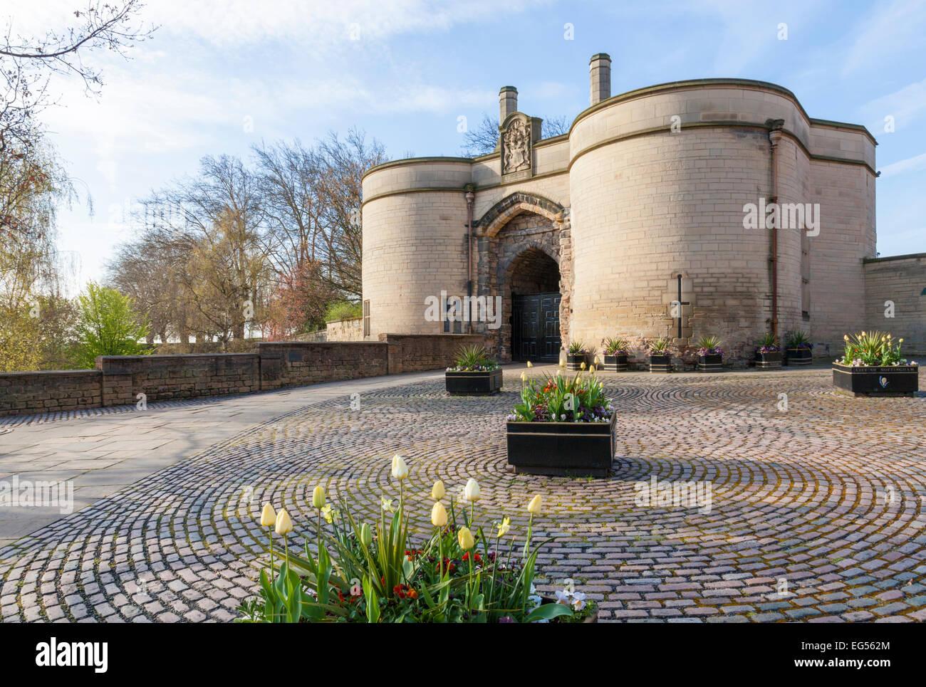 The Gate House and entrance to Nottingham Castle, Nottingham, England, UK - Stock Image