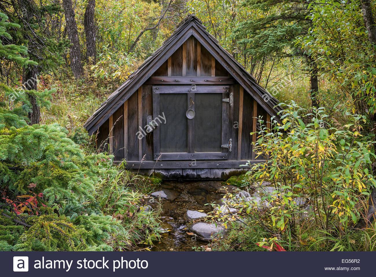 Denali national Park - Alaska : spring water at the North Face Lodge - Stock Image