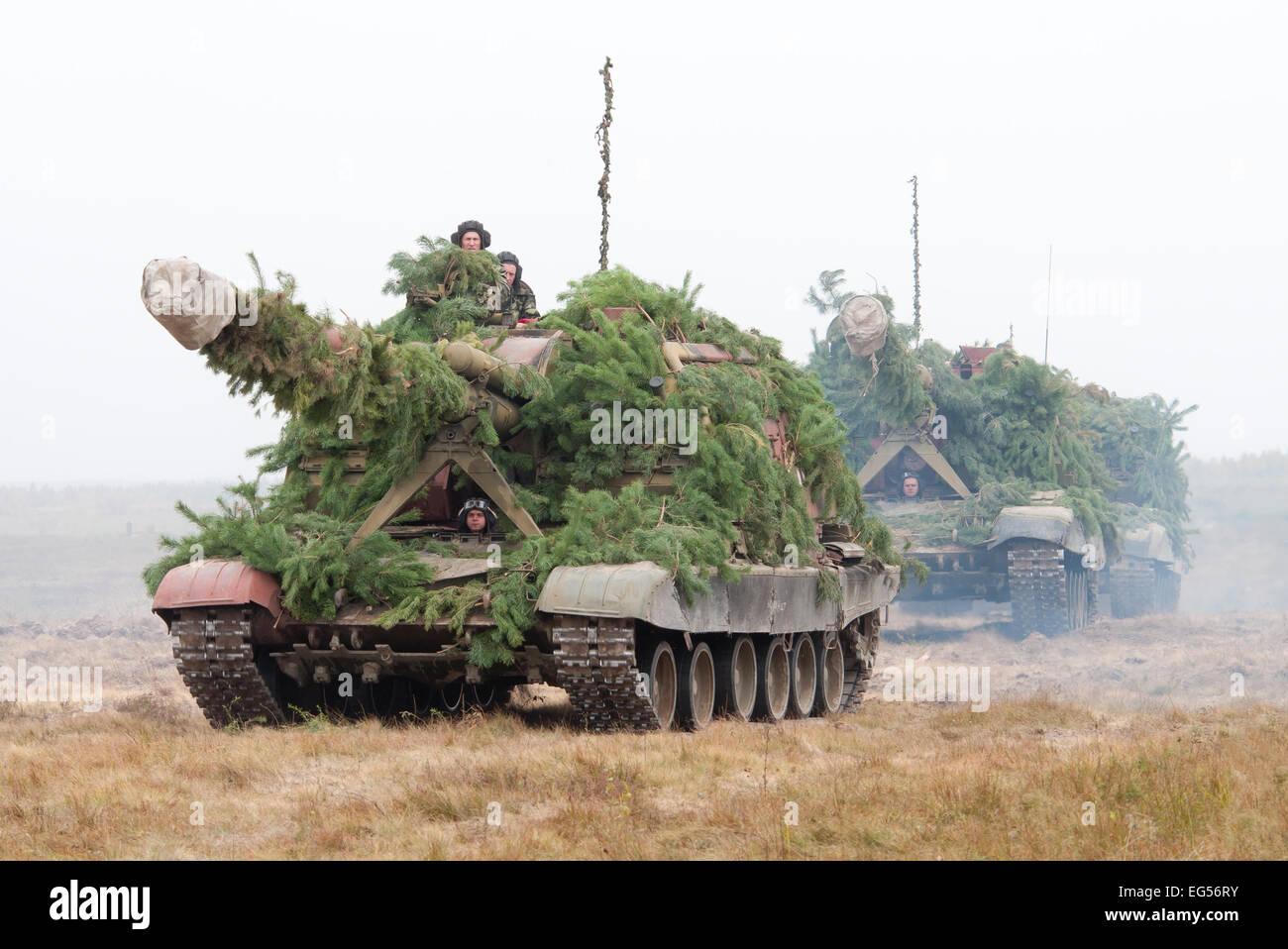 Column self-propelled howitzer 2S19 Msta-S - Stock Image