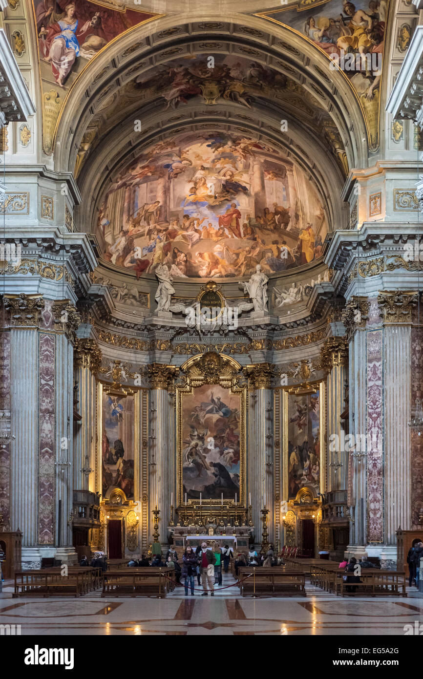 Rome. Italy. Church of St. Ignatius of Loyola at Campus Martius (1626 - 1650). Chiesa di Sant'Ignazio di Loyola - Stock Image