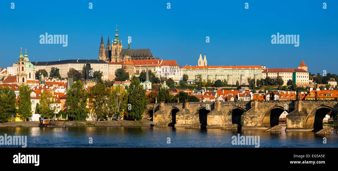 St Vitus's Cathedral and Castle of Prague Stock Photo