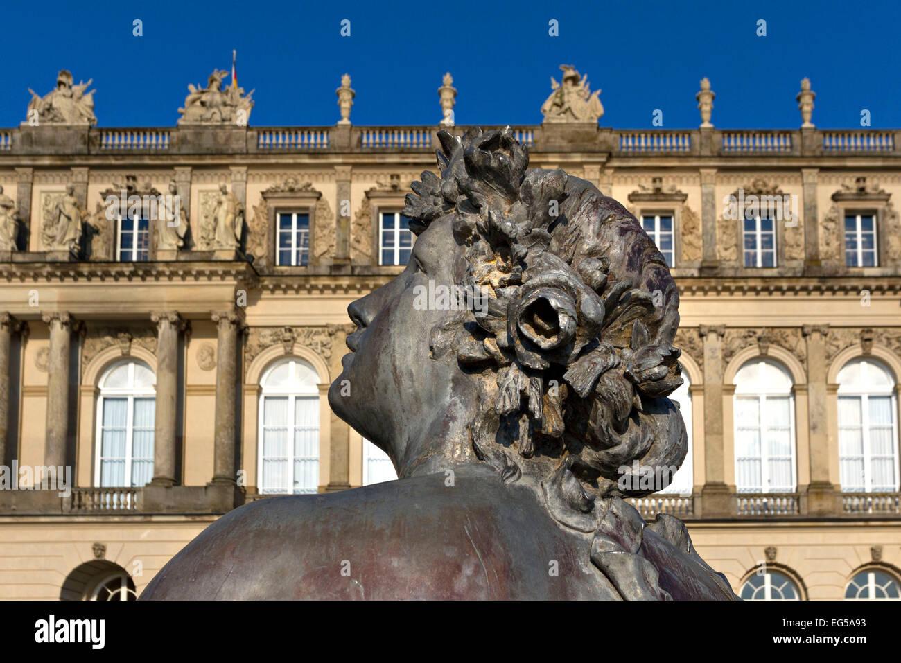 Herrenchiemsee Schloss Palace Fountain Figure, Herreninsel, Chiemsee Chiemgau, Upper Bavaria Germany - Stock Image