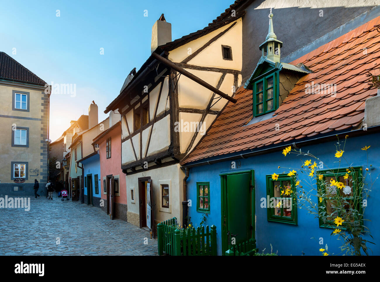 Prague, Hradcany, Golden Lane - Stock Image
