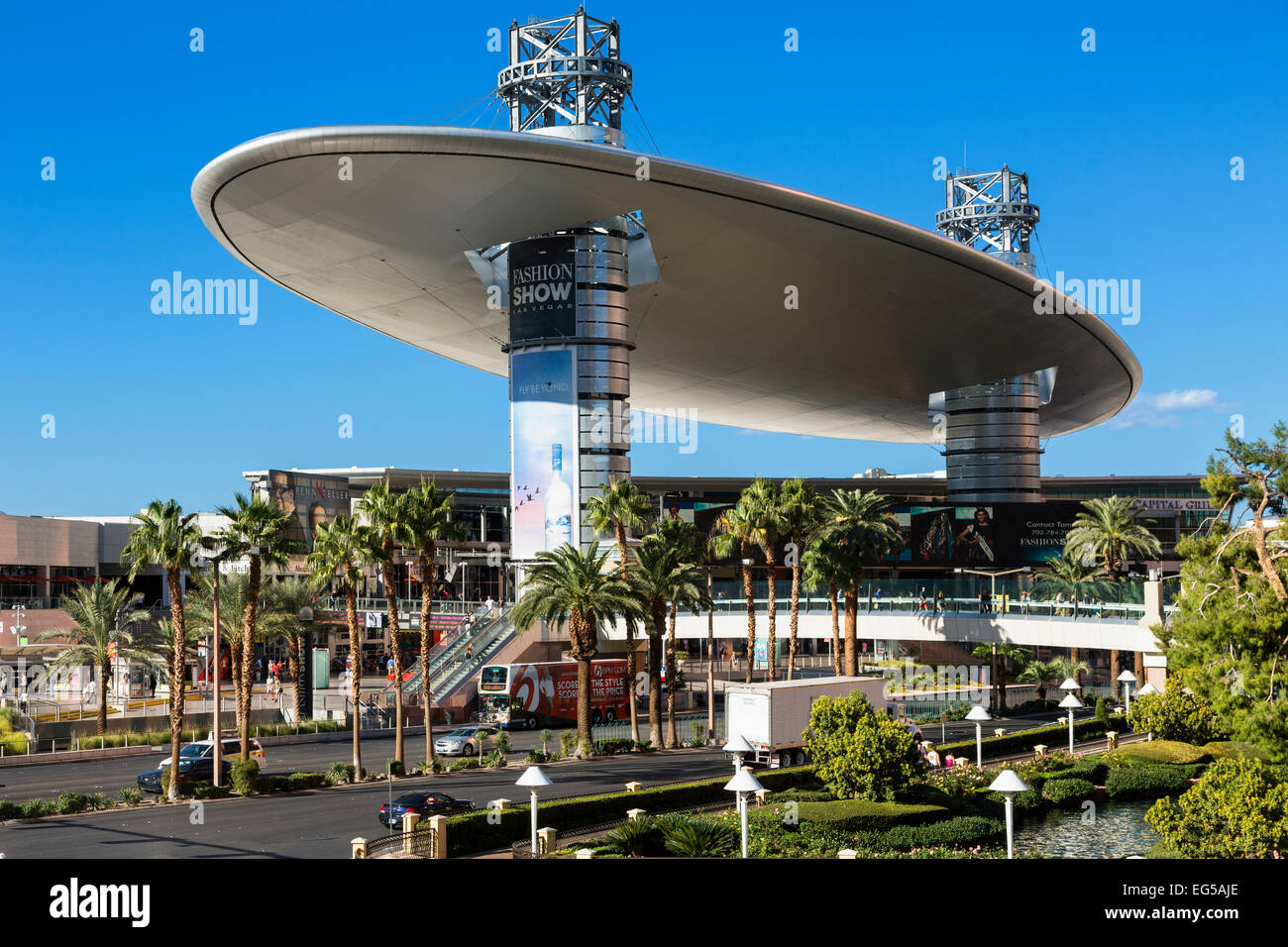 The Fashion Show Mall, Las Vegas' largest shopping - Stock Image
