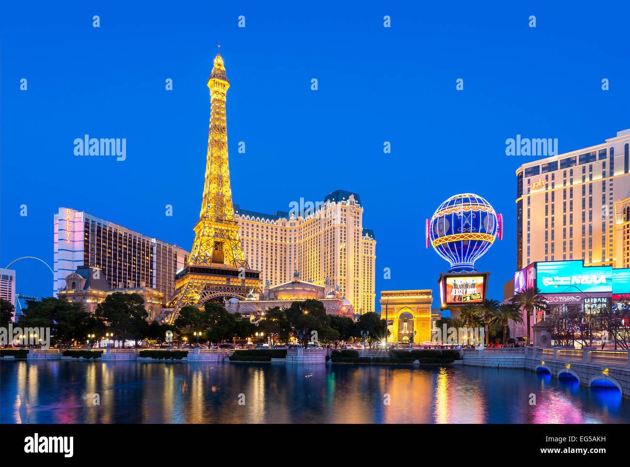 Replica Eiffel tower at Las Vegas - Stock Image