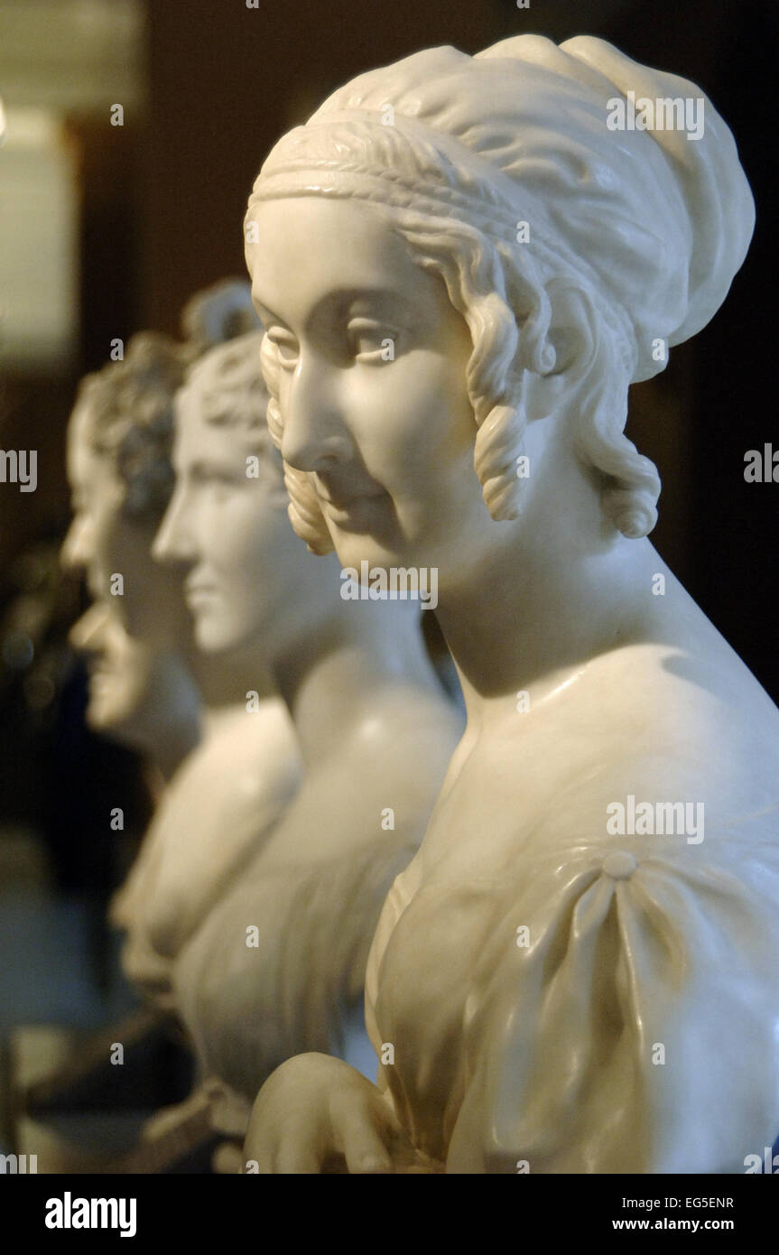 Lady Catherine Stepney as Cleopatra, by Richard Cockle Lucas (1800-1883). C. 1836. Marble. Victoria and Albert Museum. - Stock Image