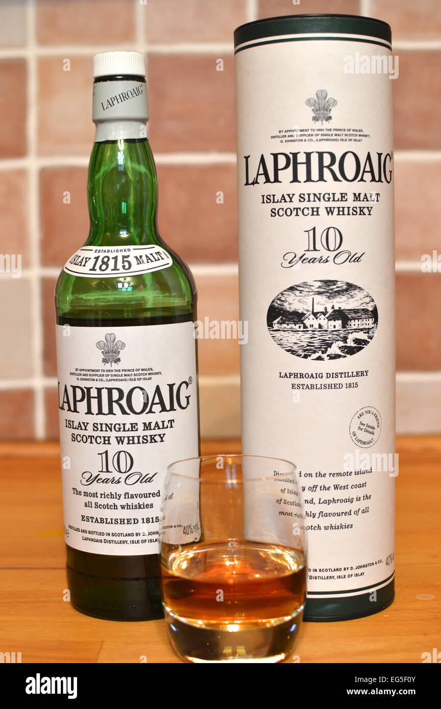 Laphroaig Single Malt Scotch Whisky Distilled On The Isle