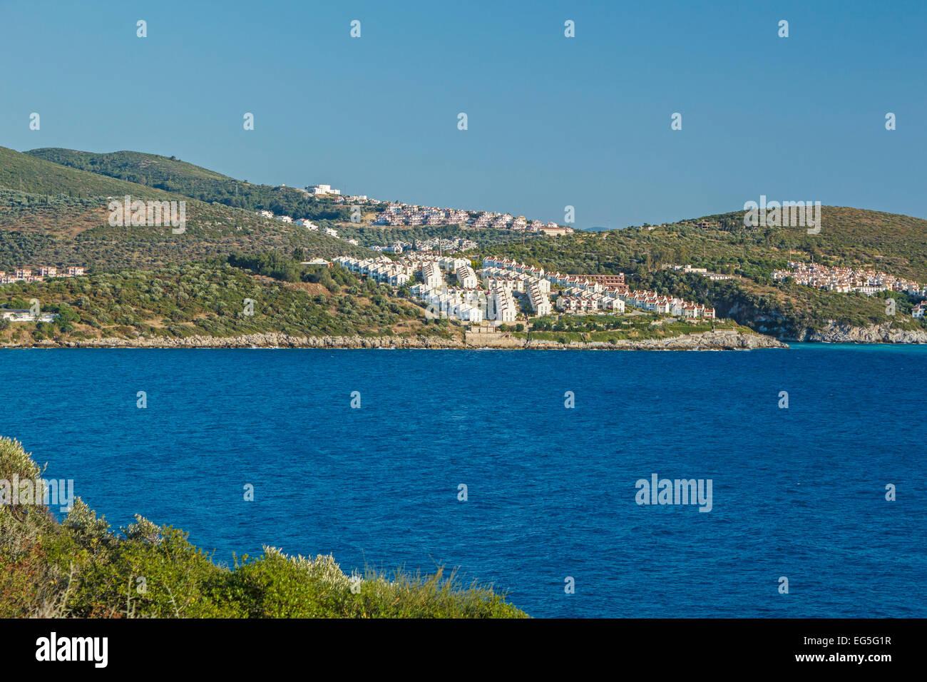 Settlements in Kusadasi, Turkey - Stock Image