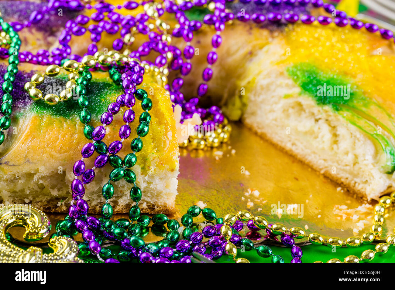 Table Decorated For Mardi Gras Party Stock Photo 78799857
