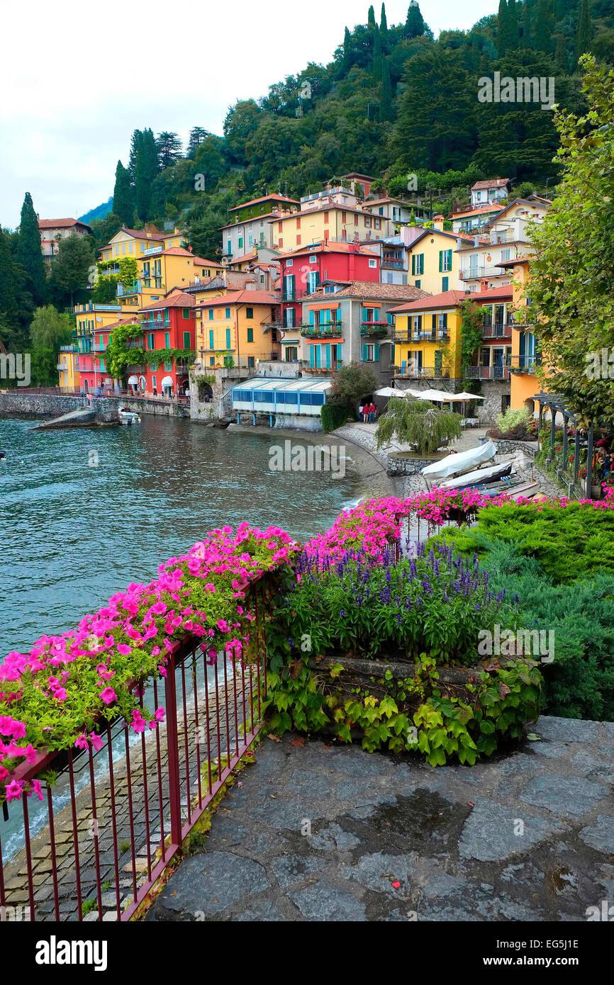 Varenna Lake Como Italy Lombardy IT EU Europe - Stock Image