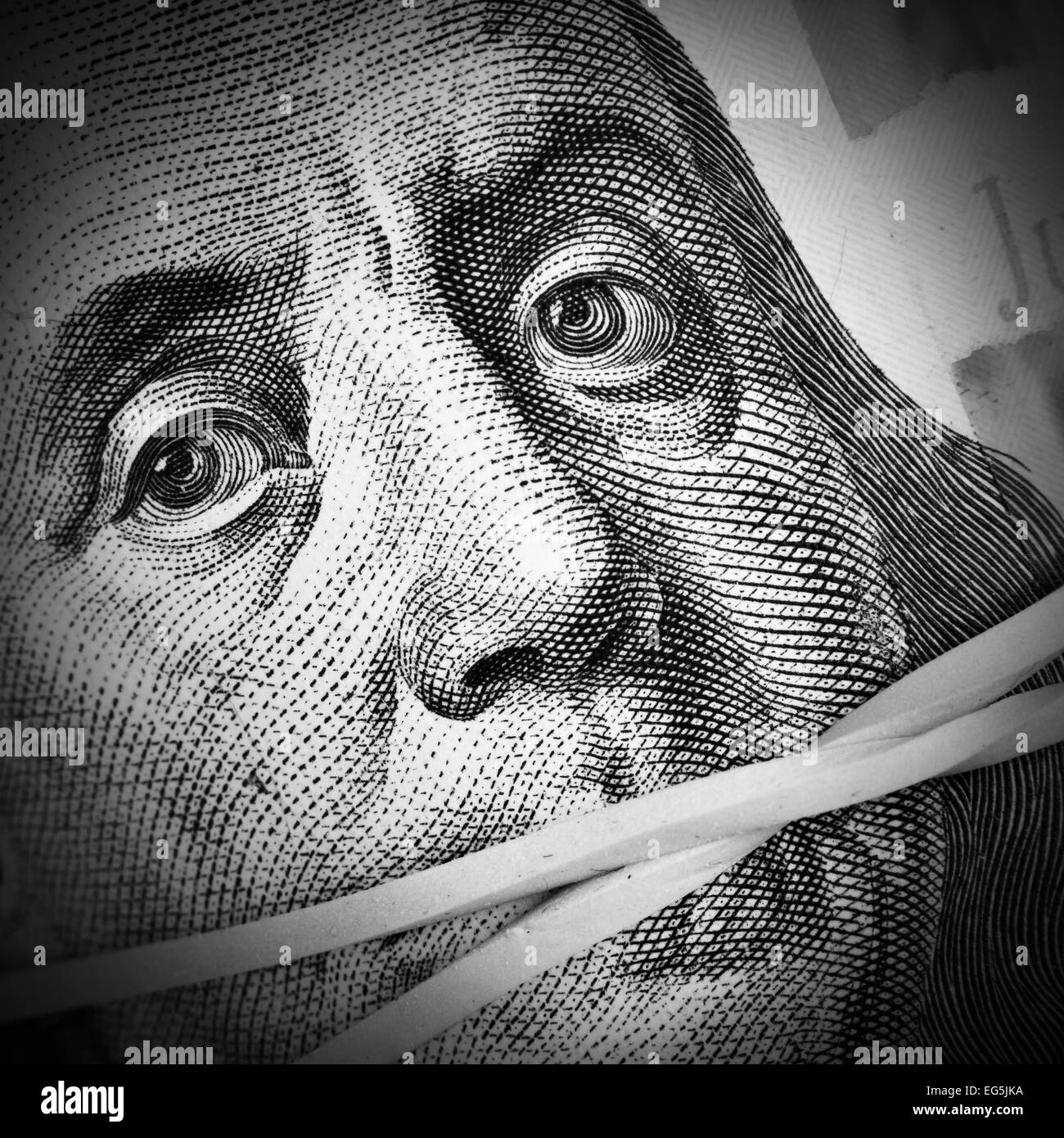 Money keeps silent. Corruption and crime concept - Stock Image
