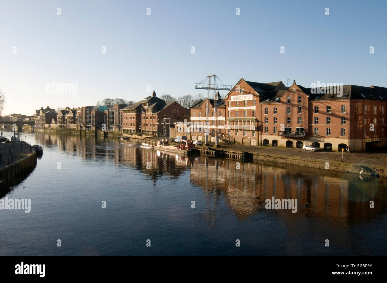 river ouse york warehouses warehouse - Stock Image