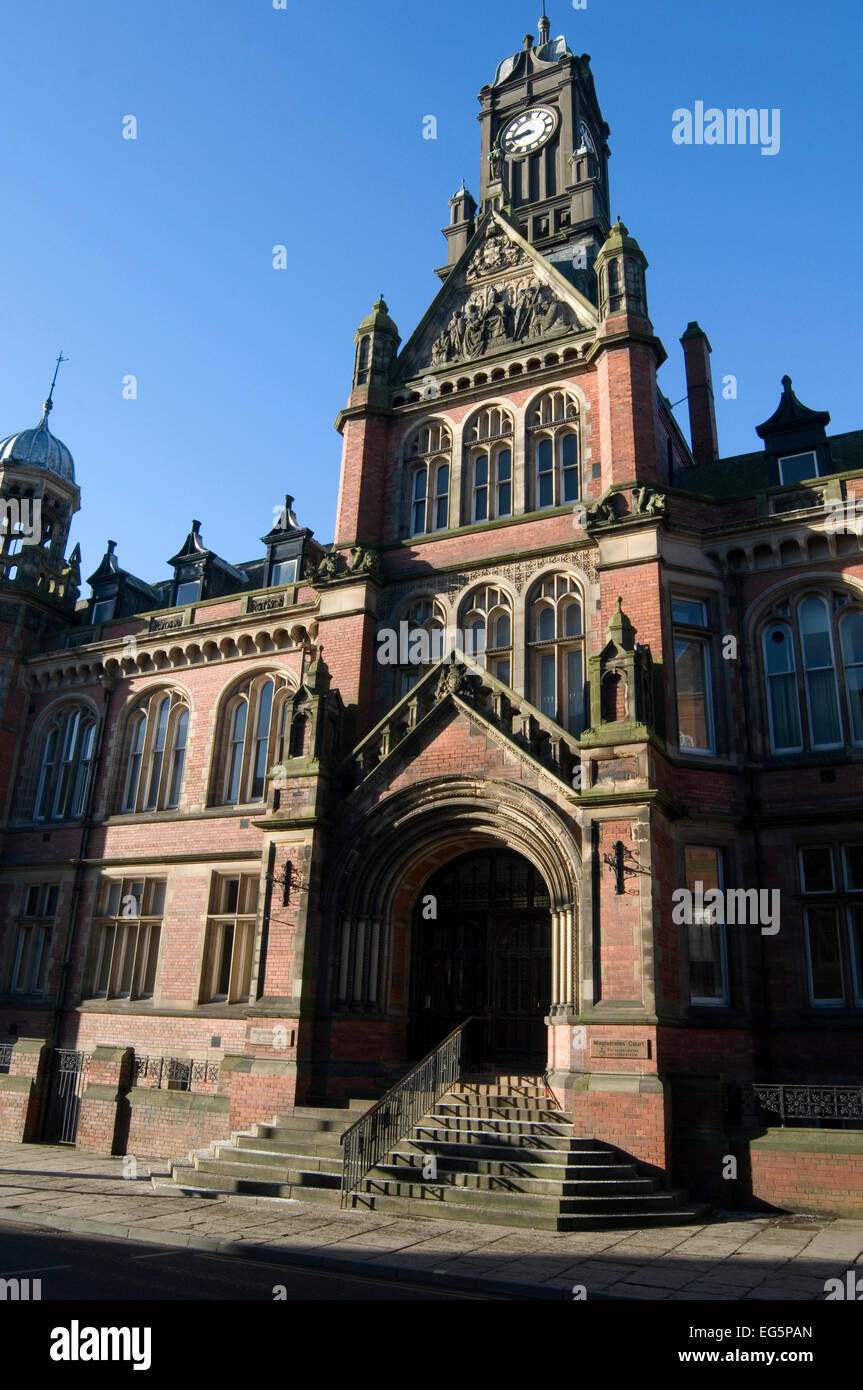 york magistrates court law courts - Stock Image