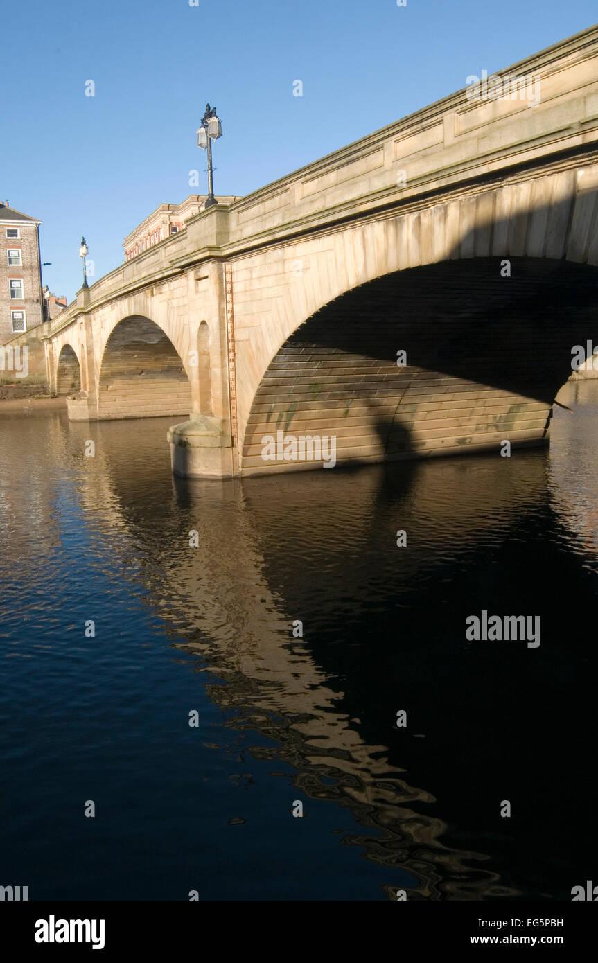 lendal bridge york river ouse yorkshire closure closed - Stock Image