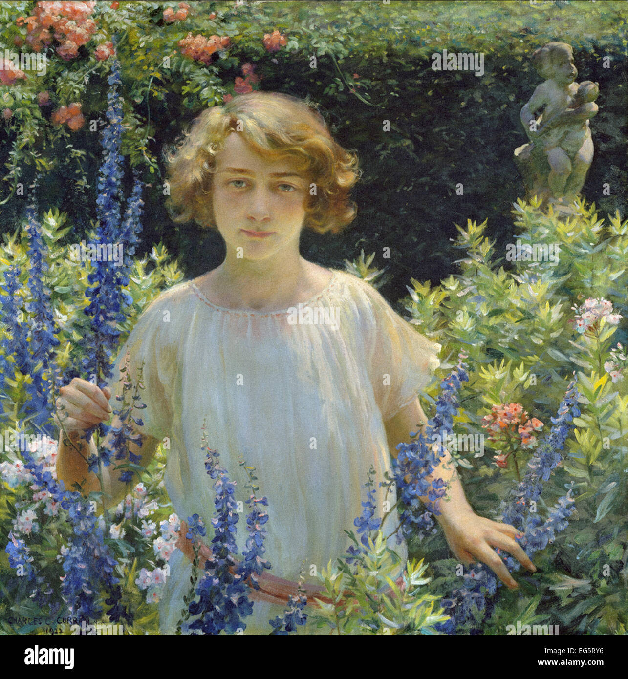 Charles Courtney Curran  Betty Newell - Stock Image