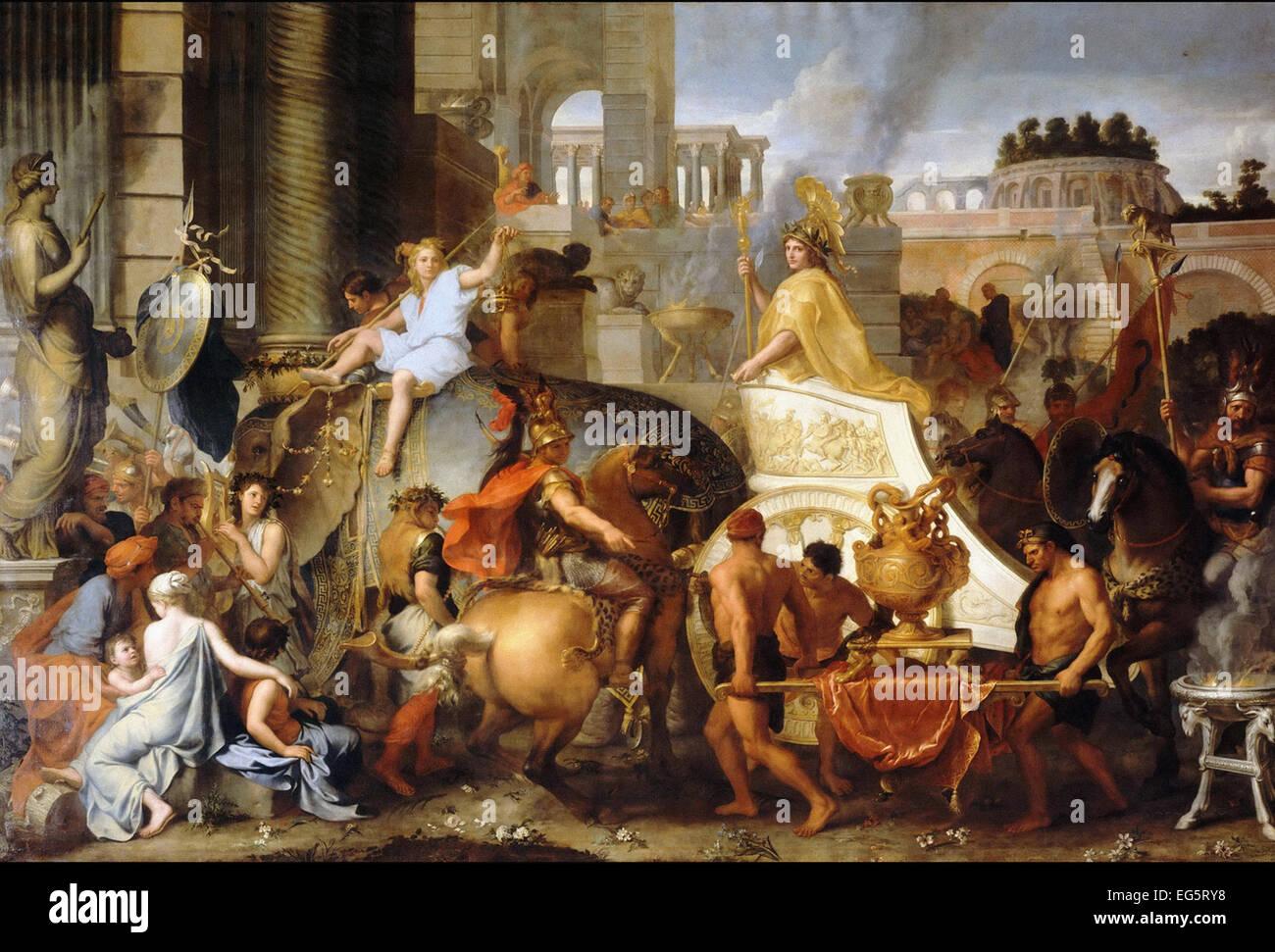 Charles Le Brun  Alexander Entering Babylon, or Triumph of Alexander - Stock Image