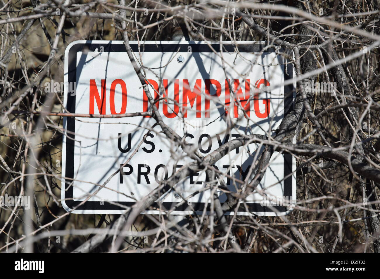 No dumping sign. - Stock Image