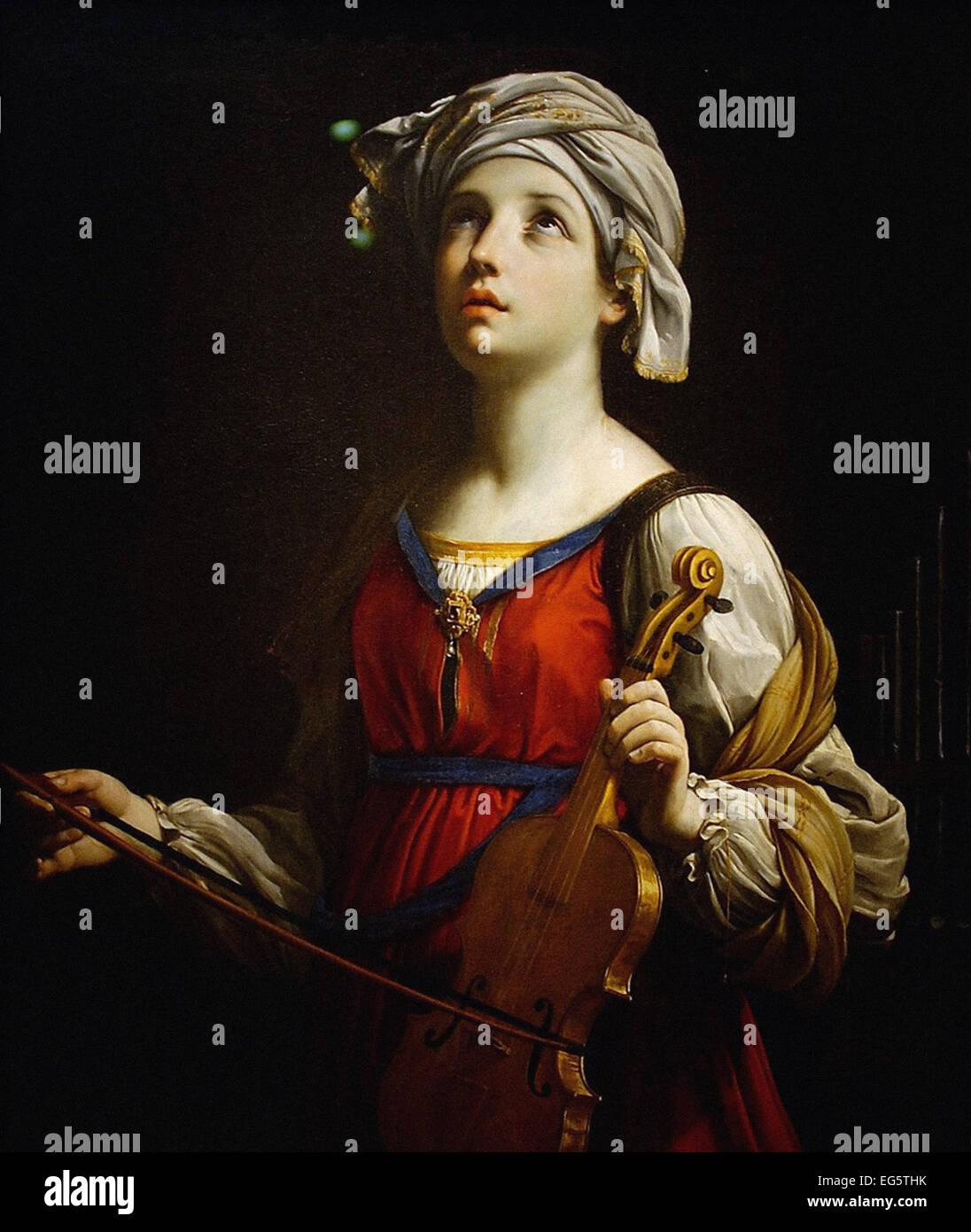 Guido Reni  Saint Cecilia - Stock Image