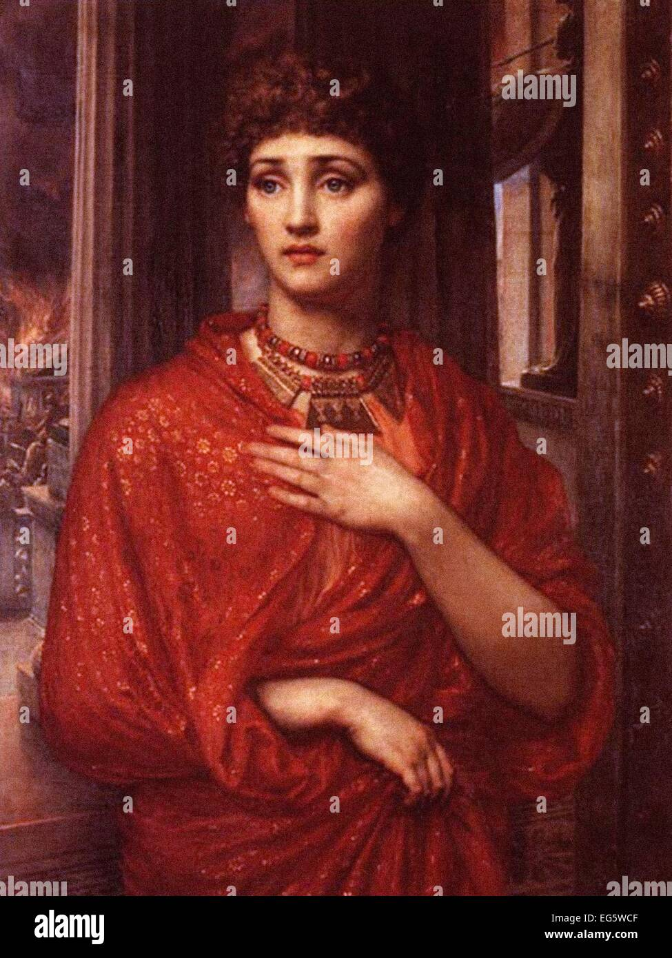 Sir Edward John Poynter  Helen of Troy - Stock Image