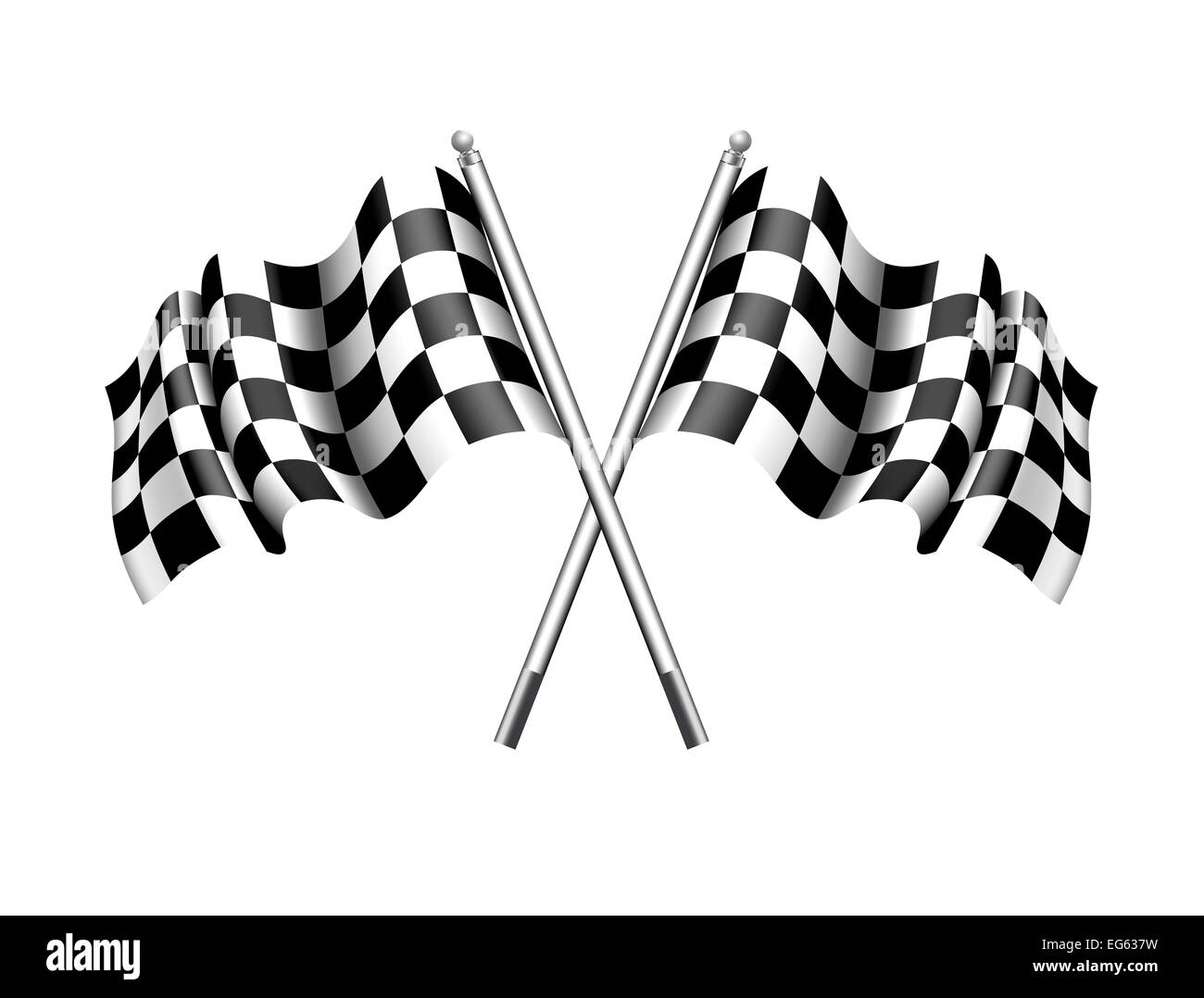 Chequered Flag - Checkered Flag - Stock Image