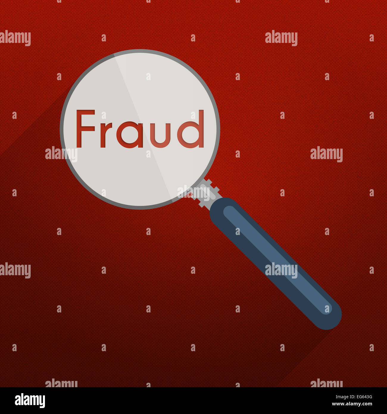 Concept of searching for evidence and clues for infringement, fraud or tax evasion. Flat design illustration with - Stock Image