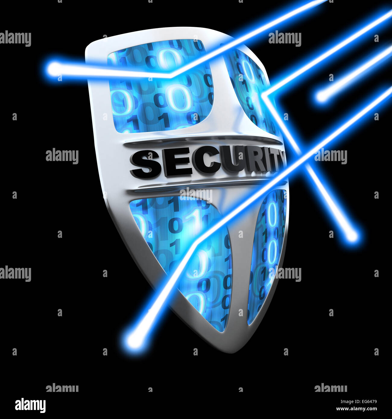 Shield antivirus, abstract (done in 3d) - Stock Image