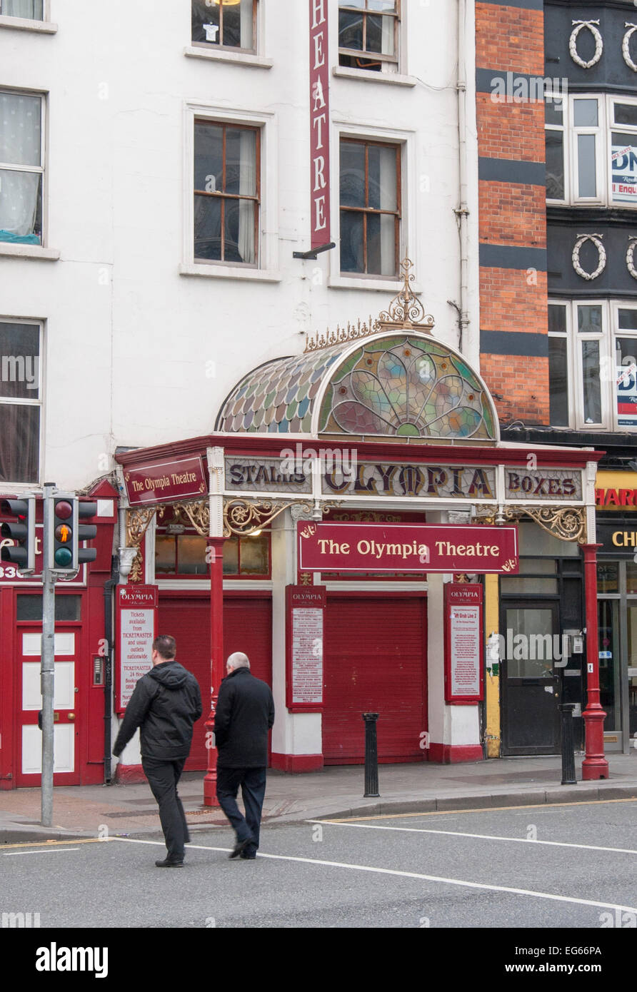 The Olympia Theatre on Dame Street in Dublin, Ireland Stock Photo