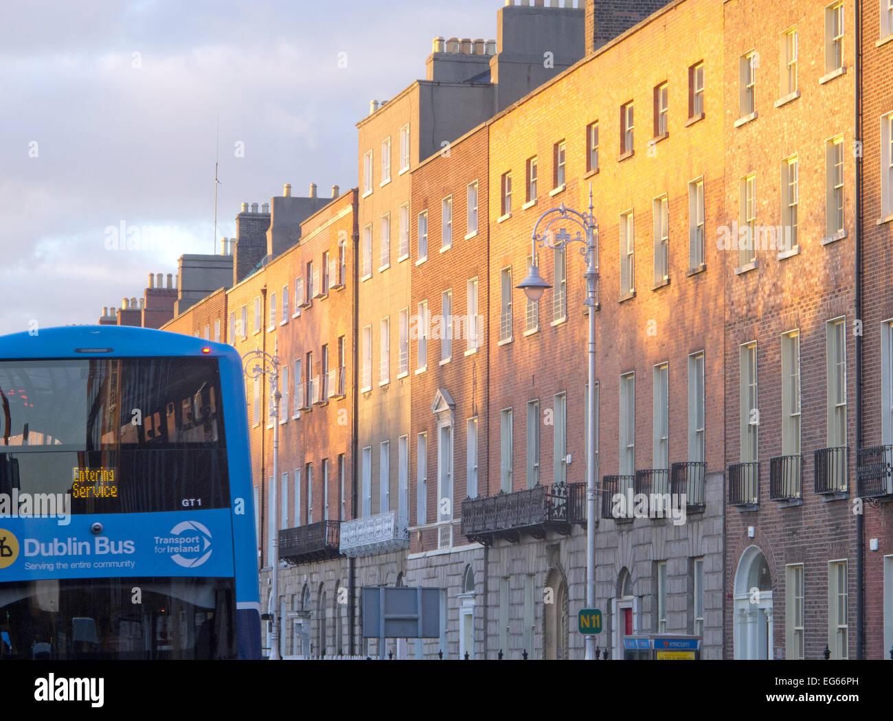 Georgian Dublin at magic hour Stock Photo